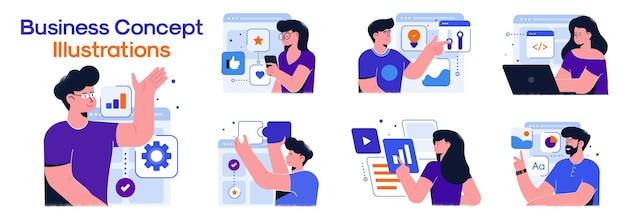Illustrations de concept d'entreprise.