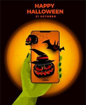 Illustrations concept vente halloween