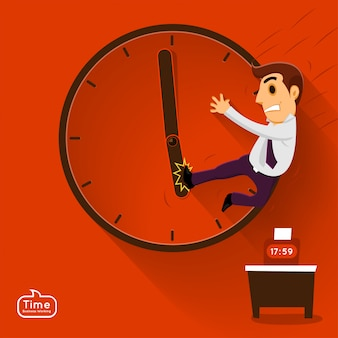 Illustrations conceptes temps managemnet