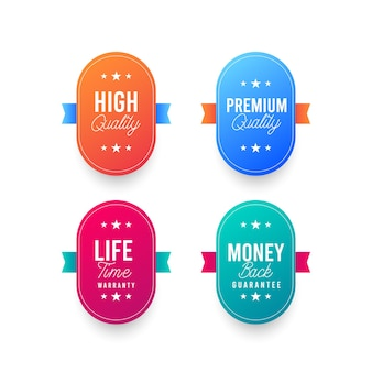 Illustrations de la conception de timbres de logo premium