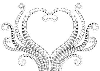 Illustrations de tentacules dessinées à la main