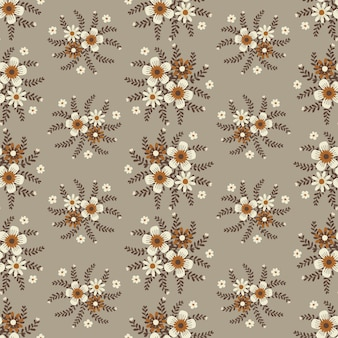 Illustrations florales pour vêtements et tissus à la mode, automne fleurs guirlande style lierre avec branche et feuilles. fond de modèles sans soudure.