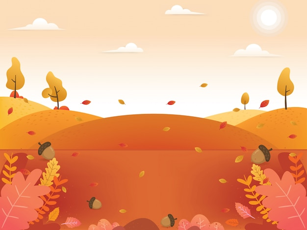 Illustrations de fond d'automne