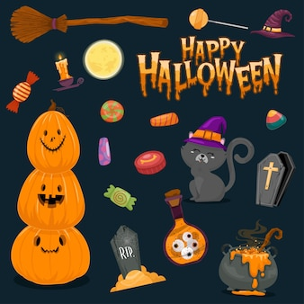 Illustrations d'halloween heureux
