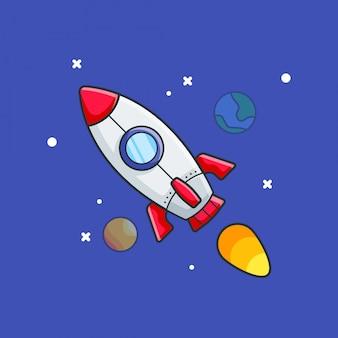 Illustrations d'icône de fusée