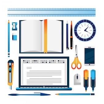 Illustrations d'icônes d'école