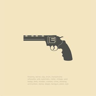 Illustrations d'icônes de pistolet