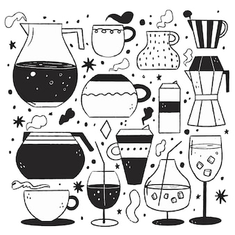 Illustrations incolores au design plat