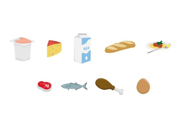 Illustrations de jeu de nourriture