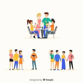 Illustrations de jour de l'amitié dessinés à la main