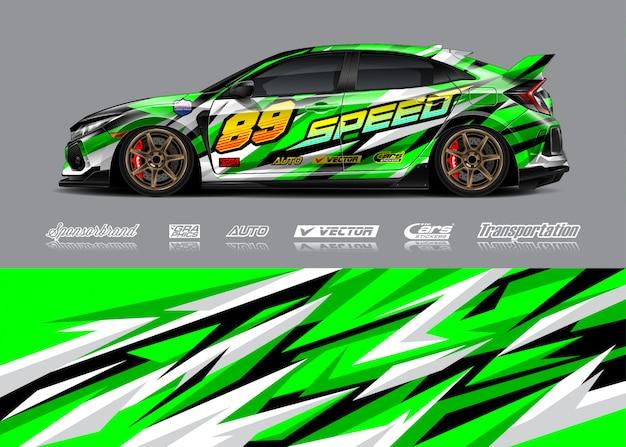 Illustrations de livrée de voiture de course