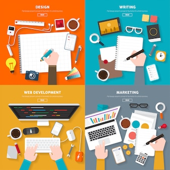 Illustrations de marketing numérique