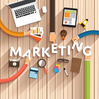 Illustrations de marketing numérique