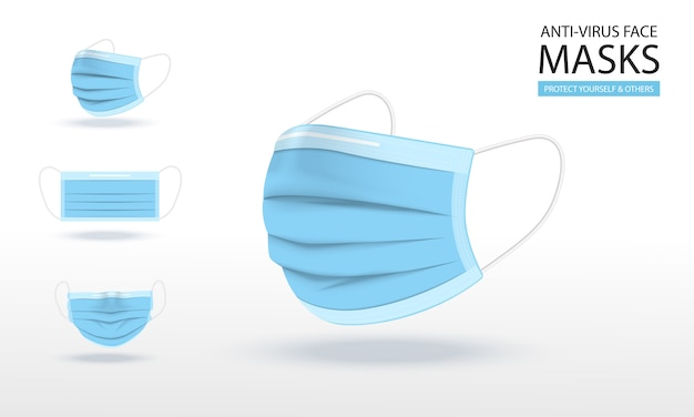 Illustrations de masque médical.