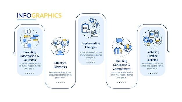 Illustrations de modèle infographique de conseil aux entreprises