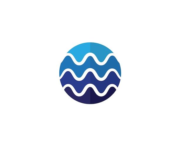 Illustrations de modèle de wavelogo de l'eau