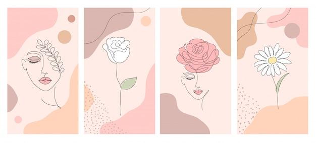 Illustrations pour des histoires de médias sociaux