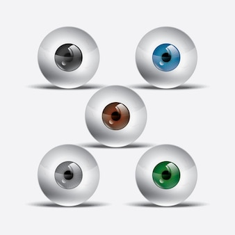 Illustrations réalistes de ballon oculaire