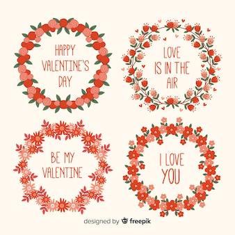 Illustrations romantiques de la saint-valentin