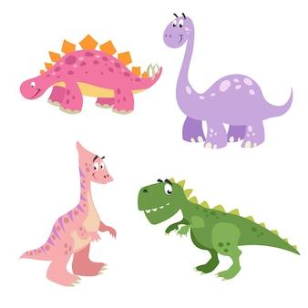 Illustrations de stégosaure et de parasaurolophus
