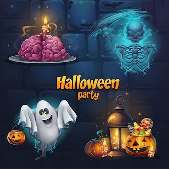 Illustrations sur le thème d'halloween