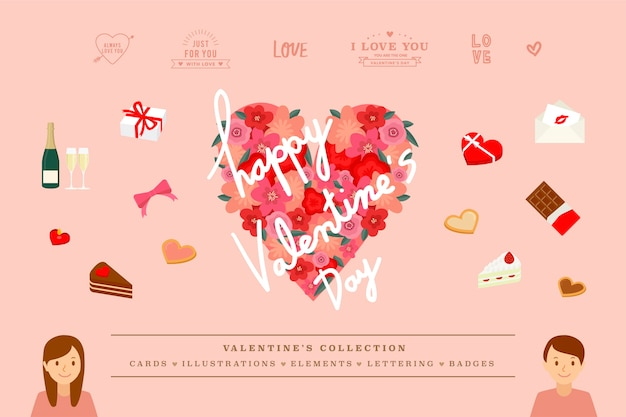 Illustrations de valentine