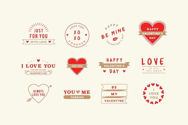 Illustrations De Valentine Vecteur gratuit