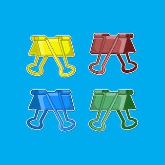 Illustrations vectorielles de clip de reliure