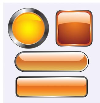 Illustrations vectorielles de boutons de verre brillant pour les icônes.