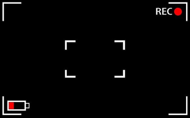 Illustrations vectorielles de l'écran de mise au point de la caméra. arrière-plan d'enregistrement du viseur de l'appareil photo