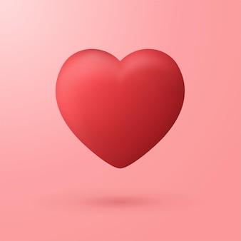 Illustrations vectorielles réalistes de coeur rouge.