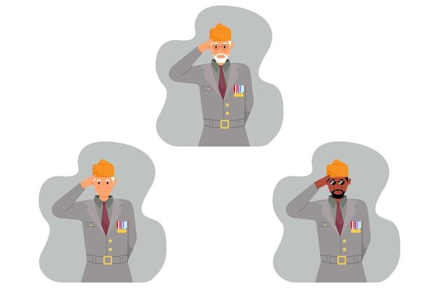 Illustrations de vétéran
