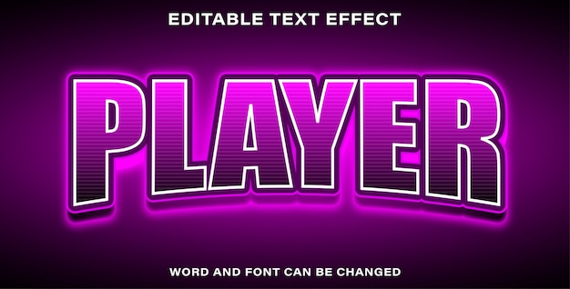 Illustrator editable text effect player esports