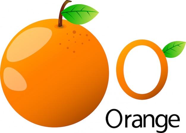 Illustrator o police avec orange