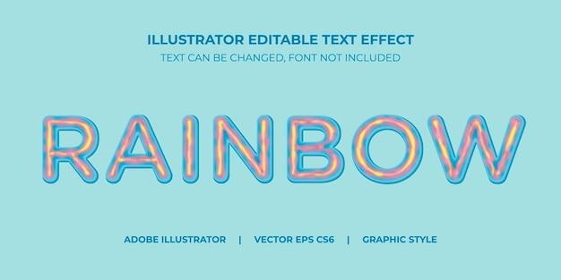 Illustrator vector effet texte dans style graphique glace arc-en-ciel