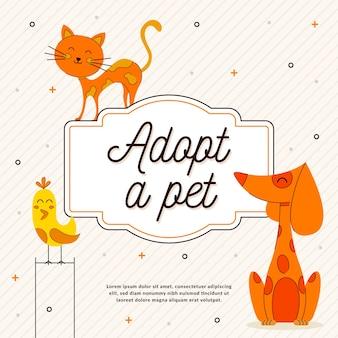 Illustré adopter un concept pour animaux de compagnie
