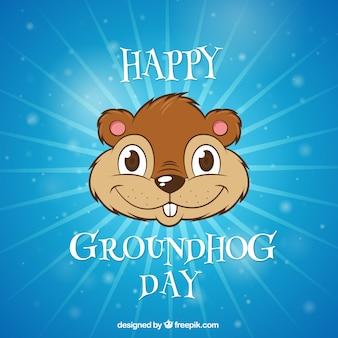 Illustré groundhog day fond