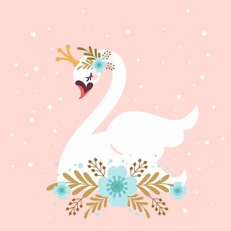Illustré de la princesse cygne