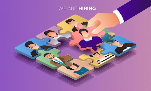 Illustrer le concept l'employé de recherche. recherche d'emploi rh. illustrer.