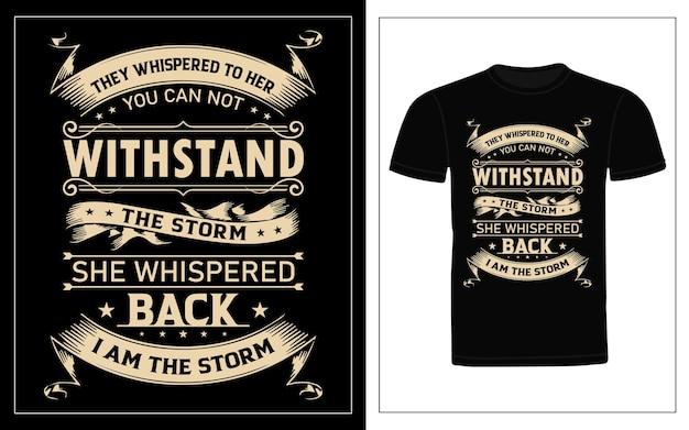 Ils ont chuchoté à sa conception de t-shirt de typographie