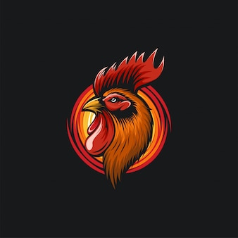 Ilustration de conception de tête de coq