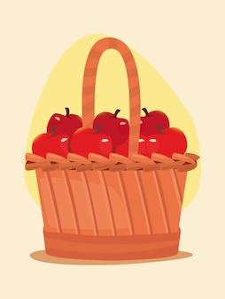 Ilustration corbeille de fruits