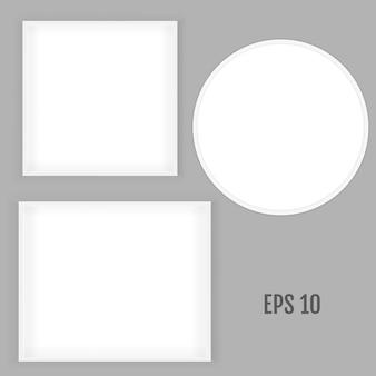 Image 3d carré et cadre rond