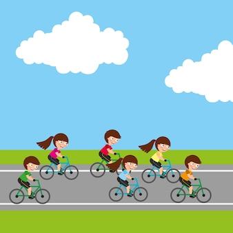 Image de l'activité sportive des enfants