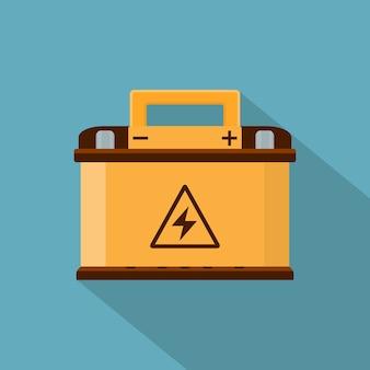 Image d'une batterie de voiture, icône de style