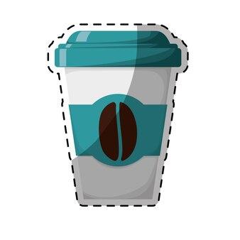 Image de café expresso couleur bleue