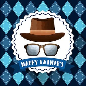 Image de la carte de fête des pères heureux