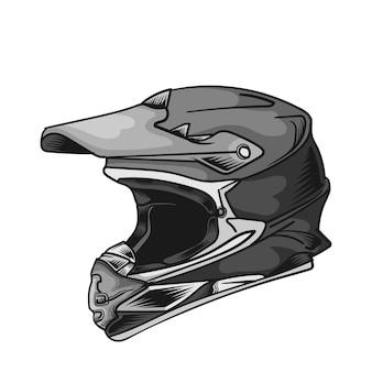 Image de casques de moto objets isolés sur fond blanc illustration