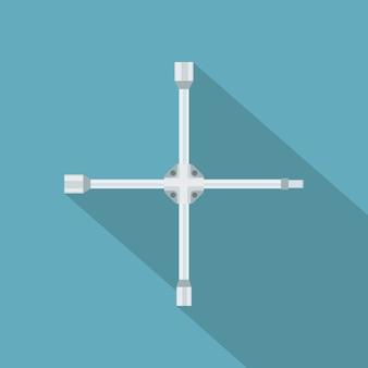 Image d'une clé de voiture, icône ctyle