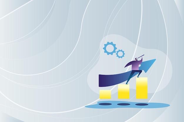 Image colorée affichant un résumé des progrès menant à l'avancement des idées de mise à niveau d'amélioration